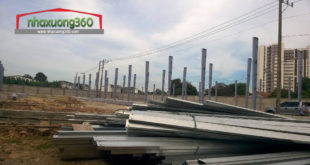 Thi công nhà xưởng lắp dựng khung kèo nhà xưởng Thuận Giao - Thuận An - Bình Dương