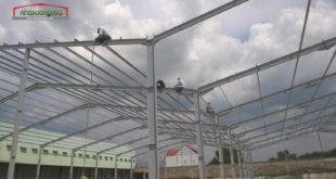 Nhaxuong360 thi công lắp dựng khung kèo nhà xưởng An phú - Thuận An - Bình Dương