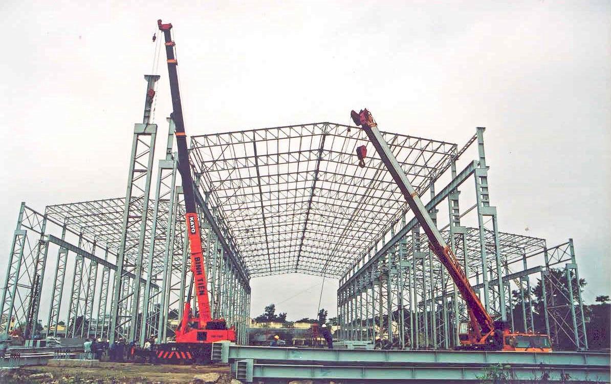 Thi công xây dựng nhà xưởng giá rẻ tại Thuận An Bình Dương.