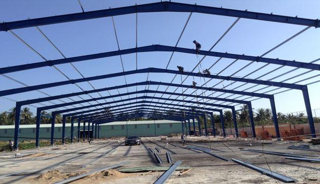 Xây dựng nhà xưởng công nghiệp tại khu công nghiệp Minh Hưng - Hàn Quốc ở Bình Phước