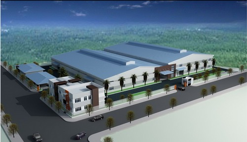Thiết kế thi công nhà xưởng tại khu công nghiệp Minh Hưng III - Bình Phước