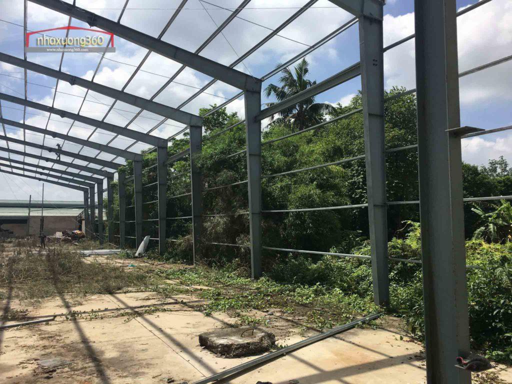 Thi công nhà xưởng Khánh Bình - Tân Uyên - Bình Dương