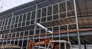 Thi công lắp dựng tấm panel chống cháy dự án Nhà xưởng KCN Mỹ Phước 3 - Bình Dương.