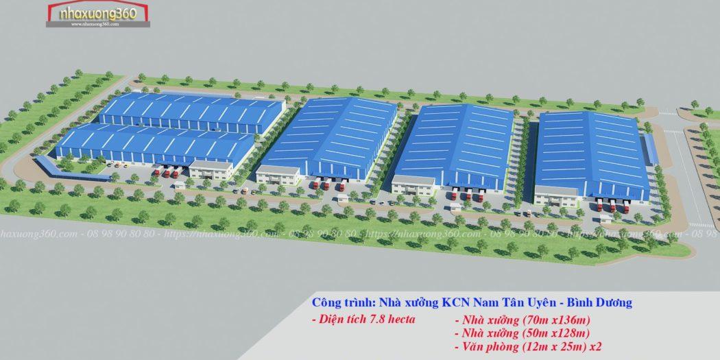 Thiết kế nhà xưởng khu công nghiệp Nam Tân Uyên - Bình Dương