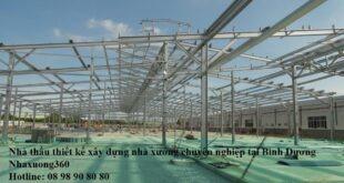 Nhà thầu thiết kế xây dựng nhà xưởng tại Bình Dương